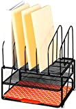 #1: Callas Mesh Desk Organizer with Three Trays and 5 Upright Sections