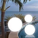 MIA Light Kugelleuchte Ø30cm/ Aussen / Deko ( Kugellampe - Leuchtkugel - Lichtkugel - Gartenkugel ) Leuchtobjekt - Lichtobjekt - Aussenlampe - Aussenleuchte - Gartenlampe - Gartenleuchte - Garten - Leuchte - Lampe