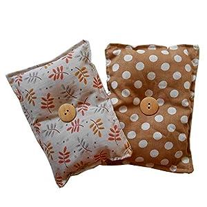 """Mini-Kissen """"Schlaf gut – Brown"""" (2er-Pack), gefüllt mit organischen Lavendelsamen – Lege es zum Einschlafen unter dein Kopf- oder Sofakissen, um die Nerven zu beruhigen und dich auszuruhen. 13x10cm"""