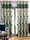 Story@Home Berry Blackout 1 Piece Floral Pattern Jacquard Window Curtains for Living Room