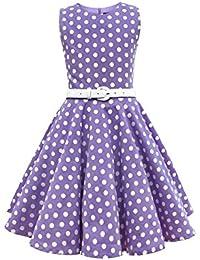 BlackButterfly Kinder 'Audrey' Vintage Polka-Dots Kleid im 50er-Jahre-Stil