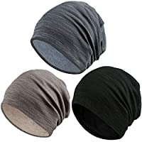 HLenyoy Slouchy Beanie for Men Women 3 Pack Skull Cap Baggy Oversize Knit Hat