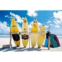 Cuadros & Marcos HB – Sun Sea And Surf Cuadro, impresión sobre madera,