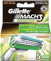 Gillette Mach3 Sensitive Power Rasierklingen, 5Stück