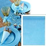 Camino de mesa color azul, 10 metros de largo, 30 cm de ancho, de fieltro, decoración de mesa, combinable