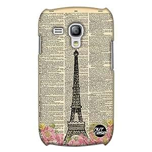 Designer Samsung Galaxy S3 Mini Cover Nutcase -Eiffel Tower Flowers Vintage