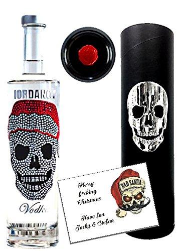 Geschenkset Christmas Skull   Vodka Luxus Designer Wodka Iordanov   Alternative Rotwein oder Gin   Geschenkbox mit original Chrome-Skull   für Männer   Weihnachten Christmas Luxus-Weihnachtsgeschenk