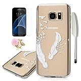 Samsung Galaxy S7 TPU Case Samsung Galaxy S7 Schutzhülle YOKIRIN TPU Silikon Case Cover Hülle Handytasche Handyhüll Handycase Etui Backcover Protective Schale Shell Feder