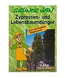 Grüner Jan Zypressen- und Lebensbaumdünger 2,5 kg