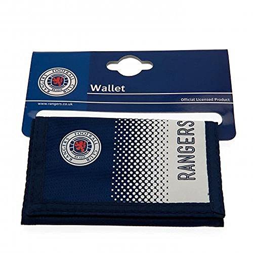 Rangers Football Club Official Fade Nylon Money Wallet Badge Crest Team -
