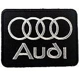 Parches - AUDI LOGO - negro - 7.5x5.7cm - termoadhesivos bordados aplique para ropa