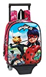 Safta Ladybug & Cat Noir - Mochila de Guardería con Carro Extraíble, Trolley