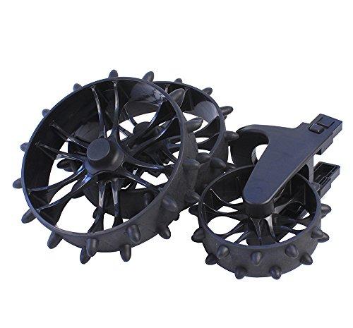 Stewart Golf Unisex R1 Hedgehog Wheelset, Black, One Size