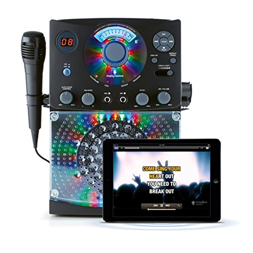 Singing Machine SML385 Karaoke Equipment with Bluetooth 1 Microphone and 36 Current Tracks - Black