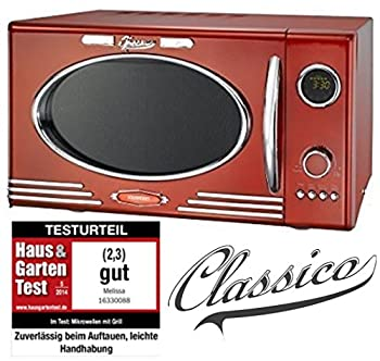 Adexi Melissa 163?30088/900W/25l/Design micro-ondes avec grill/four micro-ondes Rouge