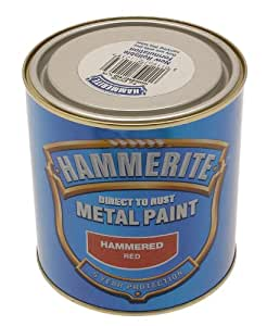 Hammerite 5092961 Metal Paint: Hammered Red 250ml