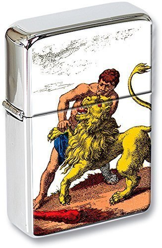Tarot (La force, resistente) Mechero con tapa EN UNA LATA DE REGALO