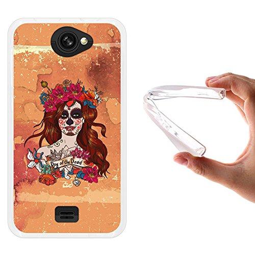 , WoowCase Handyhülle Silikon für [ MEO Smart A25 ] Halloween Schädel Handytasche Handy Cover Case Schutzhülle Flexible TPU - Transparent (Meo Den Halloween)