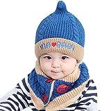 Cappello del bambino, Cappello Inverno Bambino, Unisex Bambino Sciarpa Cappello Cappelli (Blu)