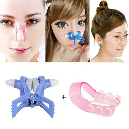 Pilaten Nose Up Clip Shaping Shaper Lifting Bridge Straightening Beauty Nose Clip (Pair).