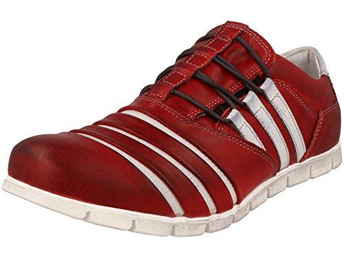 Ggr Hombre Mocasines wh Color Zapato Rojo Clásico Cuero De De SwrOqtS