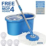 #1: Zoyo mop with Bucket/mop / Magic mop/Magic Spin mop and Bucket/Microfiber Cleaning mop/Microfiber mop Head/Magic mop Bucket/Magic Floor mop/Floor Cleaning mop (Color May Vary).