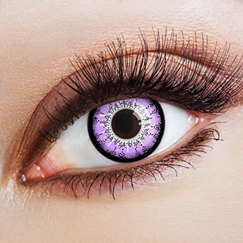 aricona Farblinsen  Natürliche farbige Kontaktlinse Ladies Night   – Jahreslinsen für helle Augenfarben, ohne Stärke, Farblinsen als Modeaccessoire für den täglichen Gebrauch (Hell Violett Womens)