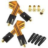 Poppstar 2x 28cm SAT Fensterdurchführung (Koax Kabel sehr flach 0,2mm), 4x F-Stecker, 4x Gummitülle, für Fenster und Türen, vergoldete Kontakte, orange