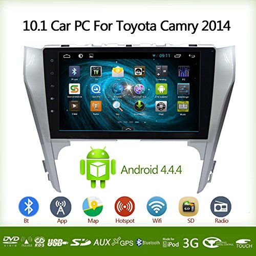 E-TONG 10.1 Inch Car PC For TOYOTA Camry 2014 BT GPS Radio DVD WIFI Dual Core Android 4.4.4 Vehicle GPS Navigation (Gps Für Camry 2014)