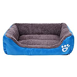 TOOGOO(R) Dog Bed Kennel Cat Pet Puppy Bed House Soft Warm, Blue S