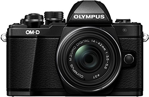 Olympus E-M10 Mark-II - Cámara Evil de 16.1 MP (Pantalla 3', estabilizador óptico, vídeo Full HD, WiFi) - Kit cámara con Objetivo 14-42mm IIR, Negro