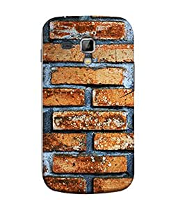 PrintVisa Designer Back Case Cover for Samsung Galaxy S Duos 2 S7582 :: Samsung Galaxy Trend Plus S7580 (Wallpaper Decorative Wall Strong Brick Builder)