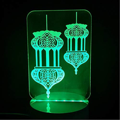 arben Ändern 3D Led Taj Mahal Nachtlichter Schreibtischlampe Wohnkultur Islam Gott Allah Segnen Arabische Leuchte Geschenke ()