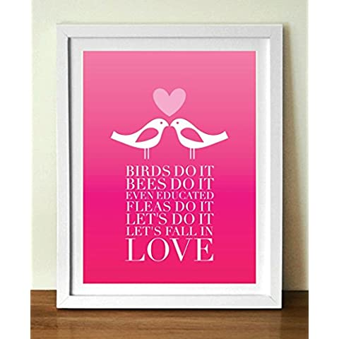 San Valentino Poster, Uccelli do it poster Stampa, 24 x 36in