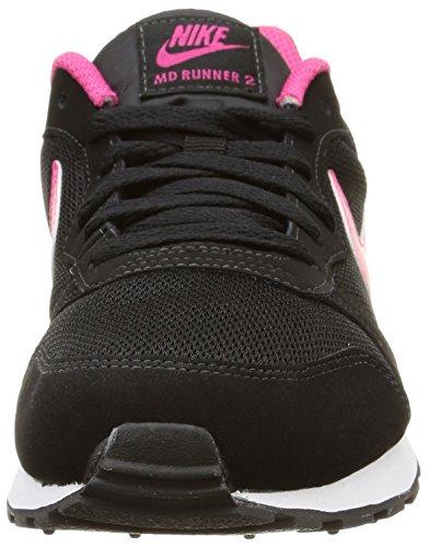 Nike Md Runner 2 (Gs) Scarpe da ginnastica, Bambine e ragazze Nero (Black / Vivid Pink / White)