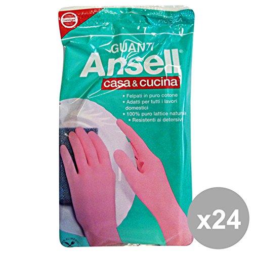 set-24-ansell-guanti-rosa-casacucina-s-giardinaggio