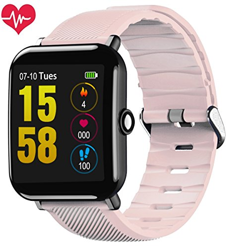Smartwatch, OUKITEL W2 Fitness Tracker Braccialetto Sport Uomo Donna Pedometro per Android iOS Notifiche Messaggio Alta risoluzione Touch Screen