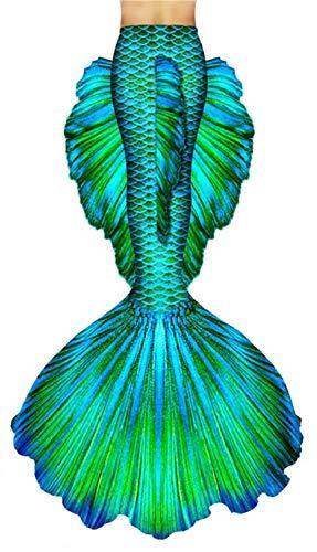 Meerjungfrau Badeanzug Erwachsene Frau Meerjungfrau Fischschuppen Extra große Party Strand Schwimmen (Color : Green, Size : XS)