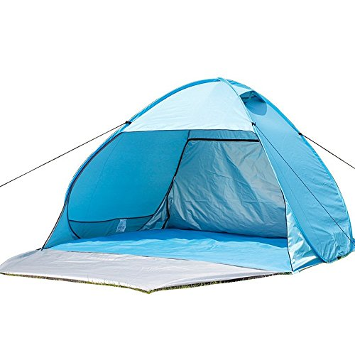 aofit fully-auto Pop Up Zelt faltbar Sun Shelter Strand Zelt Camping Zelt Beach Sunshelter, Blue 02, For 4-5 persons