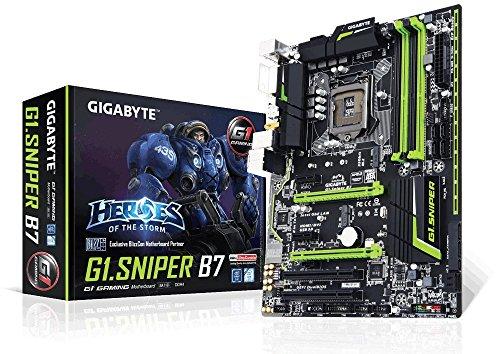 Gigabyte G1.SNIPER B7 G1 Gaming Motherboard For Intel 6th Gen - Intel B150 / Socket 1151 / DDR4 x 4 Dual Channel / PCI-Ex 16 / ATX / 7.1-CH HD Audio / 115db High Definition Onboard Audio Design / Ambient LED Onboard Lightning / 2-Way AMD Crossfire Support / M.2 Sata 32 gb/s / Dual Bios / Intel Gbe LAN / 1 x DVI-D port / 1 x HDMI port / SPDIF Out / 4K Support