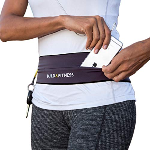 "Laufgürtel für Handy Smartphone Schlüssel Hüfttasche, Running Belt, Sport-Bauchtasche, Jogging Fitness Gürtel iPhone 7 & 8 plus, Unisex, Für Training in Fitness-Club,(graphit, X-Small/23""-26"")"