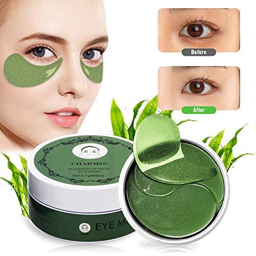 Charmss Máscara para los ojos, Máscara para ojos de colágeno, Máscaras antiarrugas para los ojos, Oro Almohadillas para los ojos Anti-envejecimiento, Reduce las bolsas bajo los ojos.(60Pcs) (verde)