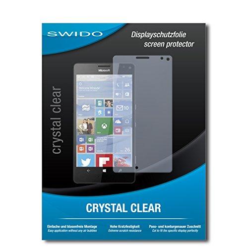 SWIDO Bildschirmschutz für Microsoft Lumia 950 XL [4 Stück] Kristall-Klar, Hoher Härtegrad, Schutz vor Öl, Staub & Kratzer/Schutzfolie, Bildschirmschutzfolie, Panzerglas Folie