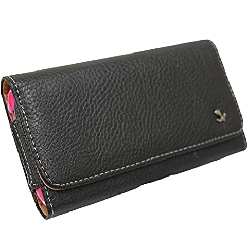 CellularOutfitter Executive Series Horizontal Leather Case with Belt Clip - Handcrafted - Black
