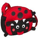 Affenzahn Kindergarten-Tasche Umhängetasche verstellbar für Jungen und Mädchen in der Kita Maja Marienkäfer - rot