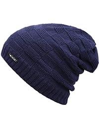 Bequemer Laden Sombreros de Invierno Sobredimensionado Holgado Gorros de  Punto para Hombres Tejido de Punto a0275db2193