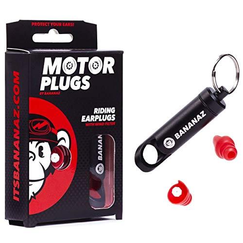 Bananaz Motorplugs Gehörschutz Ohrstöpsel für Motorrad-Fahrer