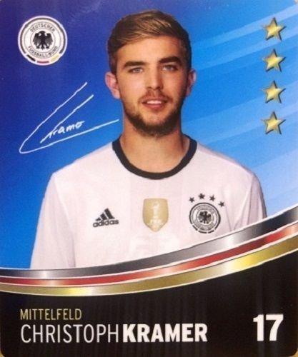Rewe DFB Sammelkarten EM 2016 Auswahl aus allen 36 und Sammelalbum oder alles komplett (Nr 17 Christoph Kramer)