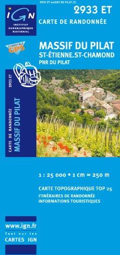 Massif du Pilat/St-Etienne/St-Chamond/PNR du Pilat: IGN.2933ET par IGN