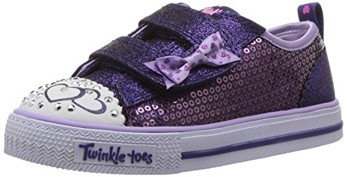 Skechers Girls Shuffles-Itsy Bitsy Trainers, Purple (Purple/Blue), 9 UK 26 EU